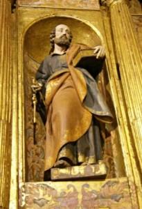 10.- Talla de San Pedro del retablo de San Andrés