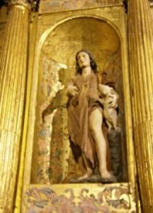 11.- El Buen Pastor. Talla del retablo de San Andrés