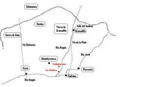11.- Mapa del Norte cacereño donde acontecen los hechos