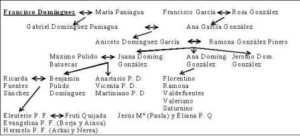 12.- Árbol genealógico de los descendientes de Francisco Dom
