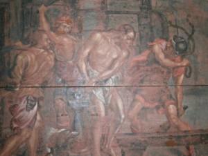 12.- Una de las pinturas de la pradela de San Andrée