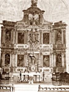 16.- Fotografía antigua del retablo de Montehermoso
