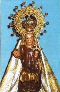 3.- Imagen actual de la Virgen de Valdefuentes