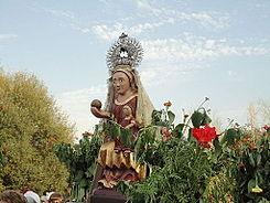 4.-Romería con la imagen de la Virgen de Valdfuentes