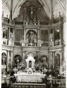 8.- Fotografía antigua del retablo de San Andrés