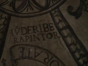 Fig 13 La firma del pintor Juan de Ribera