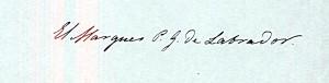 Fig. 1. Firma de don Pedro Gómez Labrador