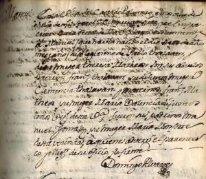Imagen 1. Partida de nacimiento de D. Manuel Talabán