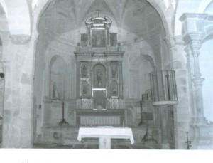 Lám 2 . Altar mayor iglesia de Santiago, Trujillo.