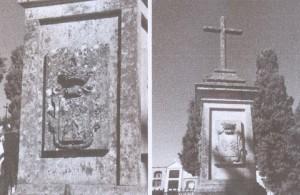 Láms 3 y 4. Escudo de los Pizarro. Tumba-panteón del Marqués de la Conquista y Vizconde de Amaya