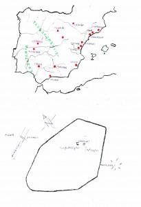 Lam. 1. Situación de Cáparra y croquis de la ciudad