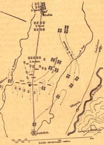 Lamina I Esquema de la batalla de Gamonal