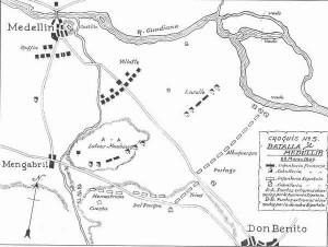 Lamina III Esquema de la batalla de Medellin