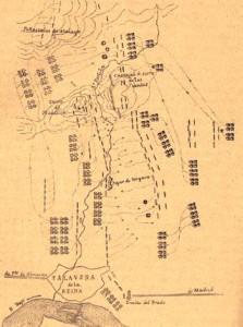 Lamina IV Esquema de la batalla de Talavera